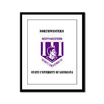 nsula - M01 - 02 - SSI - ROTC - Northwestern State University of Louisiana with Text - Framed Panel Print