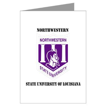 nsula - M01 - 02 - SSI - ROTC - Northwestern State University of Louisiana with Text - Greeting Cards (Pk of 10)