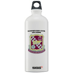 tcs - M01 - 03 - DUI - Transportation Center/School with Text - Sigg Water Bottle 1.0L