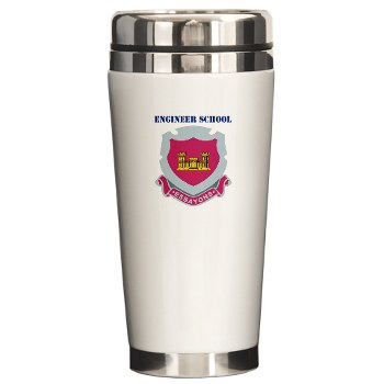 usaes - M01 - 03 - DUI - Engineer School with Text Ceramic Travel Mug