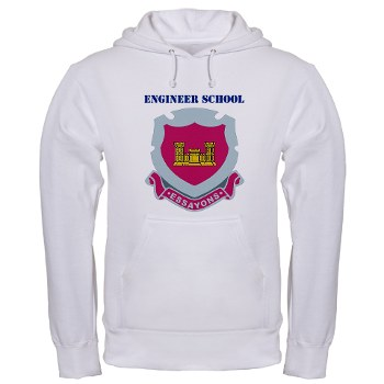 usaes - A01 - 03 - DUI - Engineer School with Text Hooded Sweatshirt