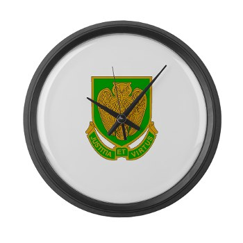 usamps - M01 - 03 - DUI - Military Police School Large Wall Clock