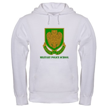 usamps - A01 - 03 - DUI - Military Police School with Text Hooded Sweatshirt