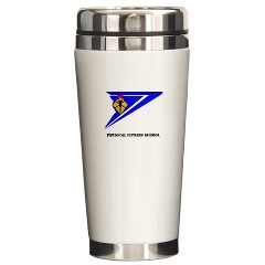 usapfs - M01 - 03 - DUI - Physical Fitness School with Text Ceramic Travel Mug