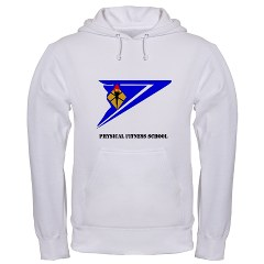 usapfs - A01 - 03 - DUI - Physical Fitness School with Text Hooded Sweatshirt
